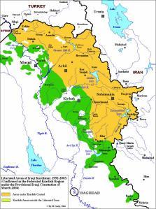 The Kurdish region as per the TAL